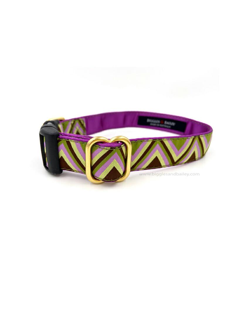purple dog colar