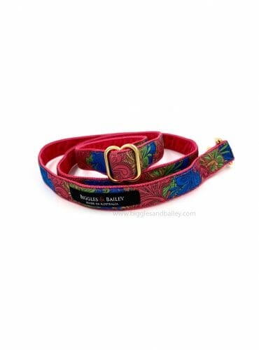 pink paisley dog lead
